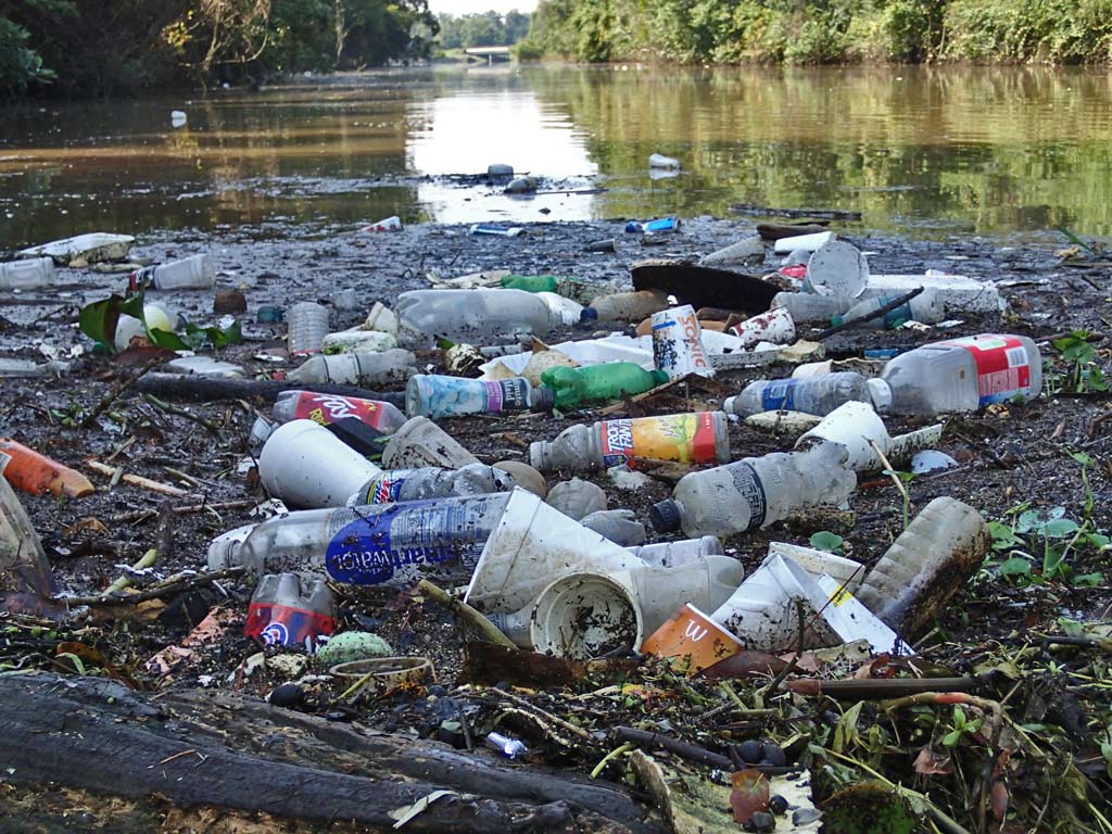 Litter in River